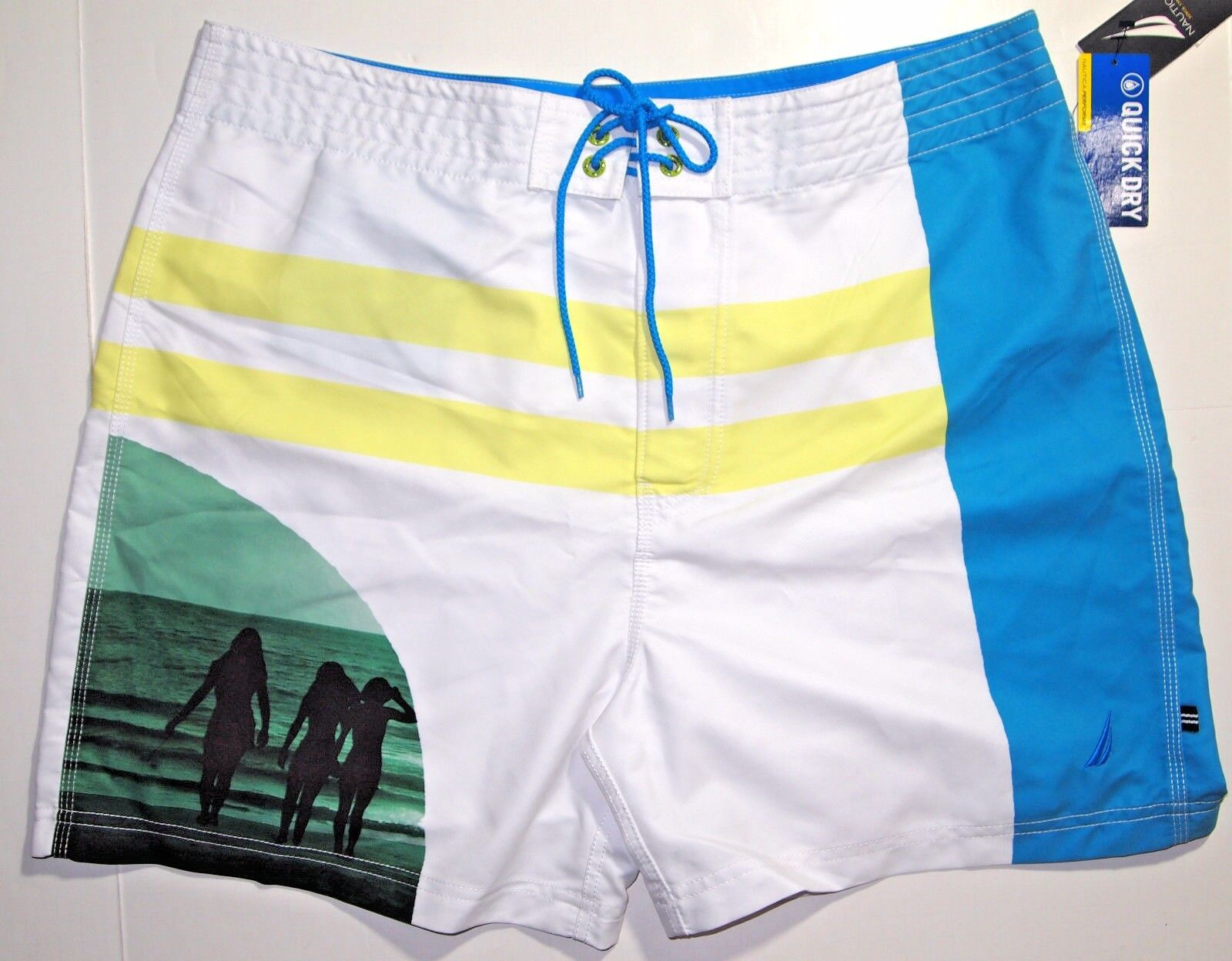 Nautica photo swimwear trunks size 34 NEW on SALE