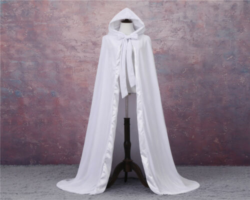 Cloak Wicca Robe Medieval Witchcraft Larp Cape Unisex Blue Velvet Hooded