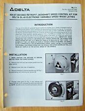 Delta 434 07 303 0002 Jackshaft Speed Wood Lathes Illustrated Parts List Wl 7 1