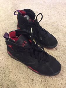 the best attitude 82a80 4d47e Details about Nike Air Jordan 7 Retro Black/red/yellow 304774-123 GS Size  5.5Y