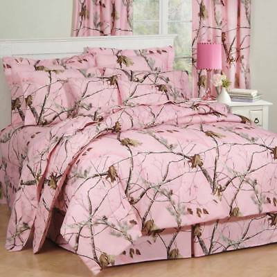 Realtree AP Lavender Camo 6 Pc TWIN Comforter Set Great for the Cabin!