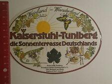 Aufkleber/Sticker: Kaiserstuhl Tuniberg Sonnenterrasse Deutschlands (15121653)