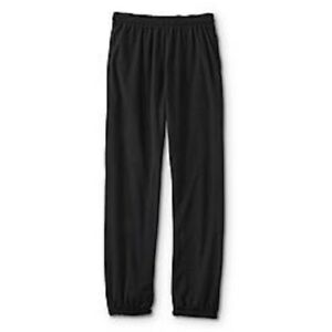 Athletech-Men-039-s-Black-Fleece-Sweatpants-with-Side-and-Back-Pockets-NWT