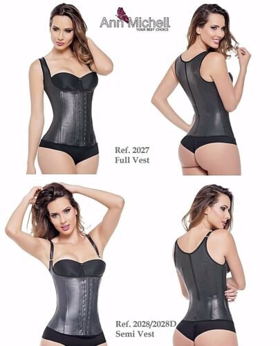 Ann Michell 2027 Vest 2028 Semi Vest Latex Waist Cincher Girdle 2 or 3 Hooks