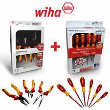 Wiha Electricians Insulated Vde 9 Piece Heavy Duty Screwdriver Amp Plier Set 1000v