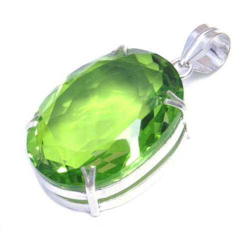 Marvelous look faceted multi cut stone handmade jewelry pendant in variation