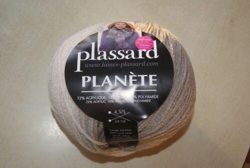 Pelote de laine PLANETE de PLASSARD coloris dégradé de gris