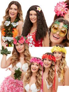 Hawaiian Green and Pink Flower Headband Tiki Kit