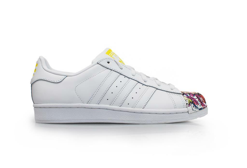 Mens Adidas Superstar Pharrell Supersh - S83354 - White Yellow Trainers