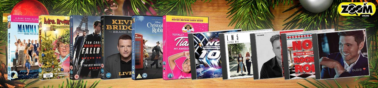 Top DVDs and CDs this Christmas