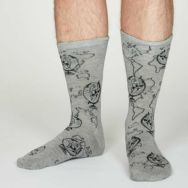 Thought Mid Grey Marle Thaddens Socks