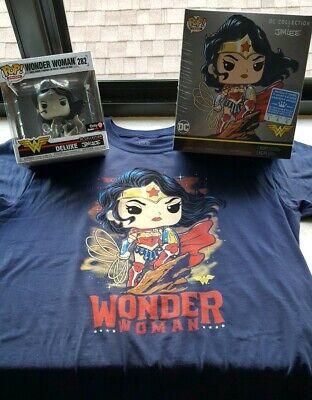 Funko Pop Eroi Wonder Woman Deluxe 282 DC COLLEZIONE jimlee-NUOVO SIGILLATO