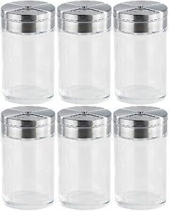 blau 4x Gewürzstreuer-Set Streuer Aromabehälter aus Glas /& Edelstahl 8x5x5cm