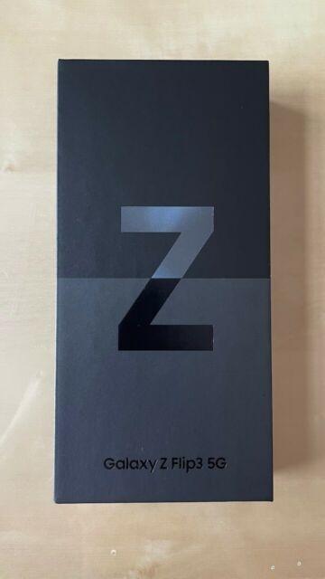 New Sealed Samsung Galaxy Z Flip3 5G SM-F711U - 128GB - Phantom Black (Unlocked)