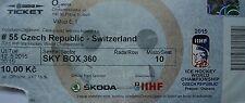 TICKET Sky Box Eishockey WM 12.5.2015 Tschechien - Schweiz in Prag