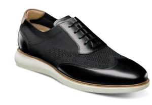 Florsheim-Fuel-Knit-Wingtip-Oxford-Men-039-s-Black-Walking-Shoes-14249-001