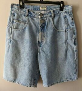 Vintage Guess Jean Shorts Size 27 High Waist Light Wash distressed