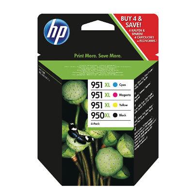 GENUINE HP 950XL 951XL Black Cyan Magenta Yellow SEALED PACK DATE 2016 C2P43AE
