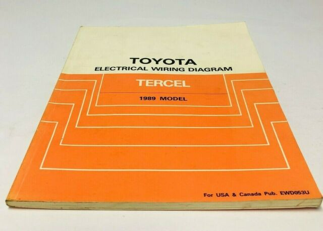 1989 Toyota Tercel Electrical Wiring Diagrams Service Shop