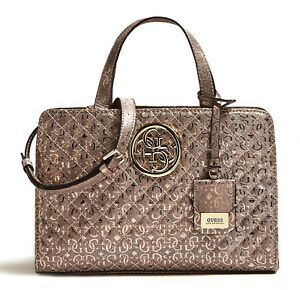 Details about GUESS Gioia Small Girlfriend Satchel Pewter, Ladies Bag Handle Bag Handbag show original title