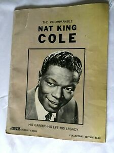 The-Incomparable-Nat-King-Cole-A-Sepia-Celebrity-Book-1965-Paperback