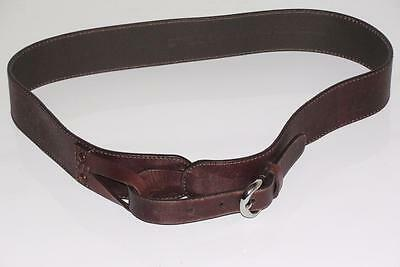 CHICO'S~BROWN~LEATHER *EQUESTRIAN STYLE BUCKLE* EMBELLISHED WAIST BELT~M