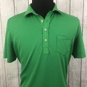 Ralph-Lauren-RLX-Men-039-s-Large-Green-Short-Sleeve-Stretch-Polo-Golf-Shirt