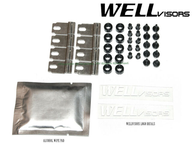 Wellvisors Rain Sun Wind Deflectors E39 BMW 5-Series 97-03 Window Visors Chrome