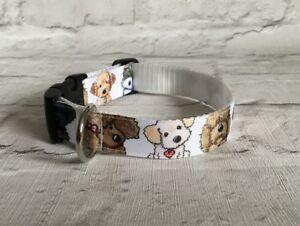 Dog-Collar-Cute-Cartoon-Doggies-Unique-Funky-Pet-Supply-Gift-Handmade-Xmas