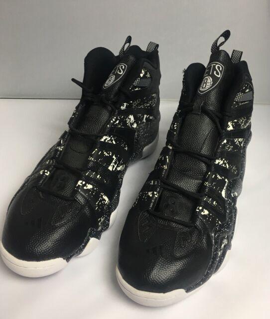 Adidas Mens 19 Black White Crazy 8 Brooklyn Nets Basketball Shoes S89938