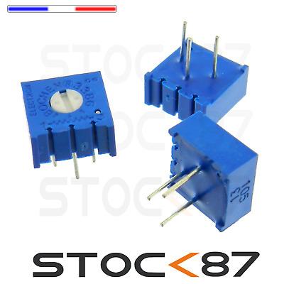 trimpot 501 1599-500R# 1 à 10 pcs 500 ohms potentiomètre cermet 3386P 0,5w