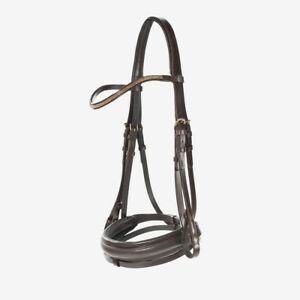Horze-Crescendo-Lester-Snaffle-Bridle-with-U-Shaped-Browband-and-Anti-Slip-Reins