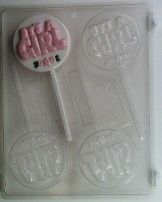 It/'s a Boy or It/'s a Girl Chocolate Sucker Mould or Chocolate Pop Mould