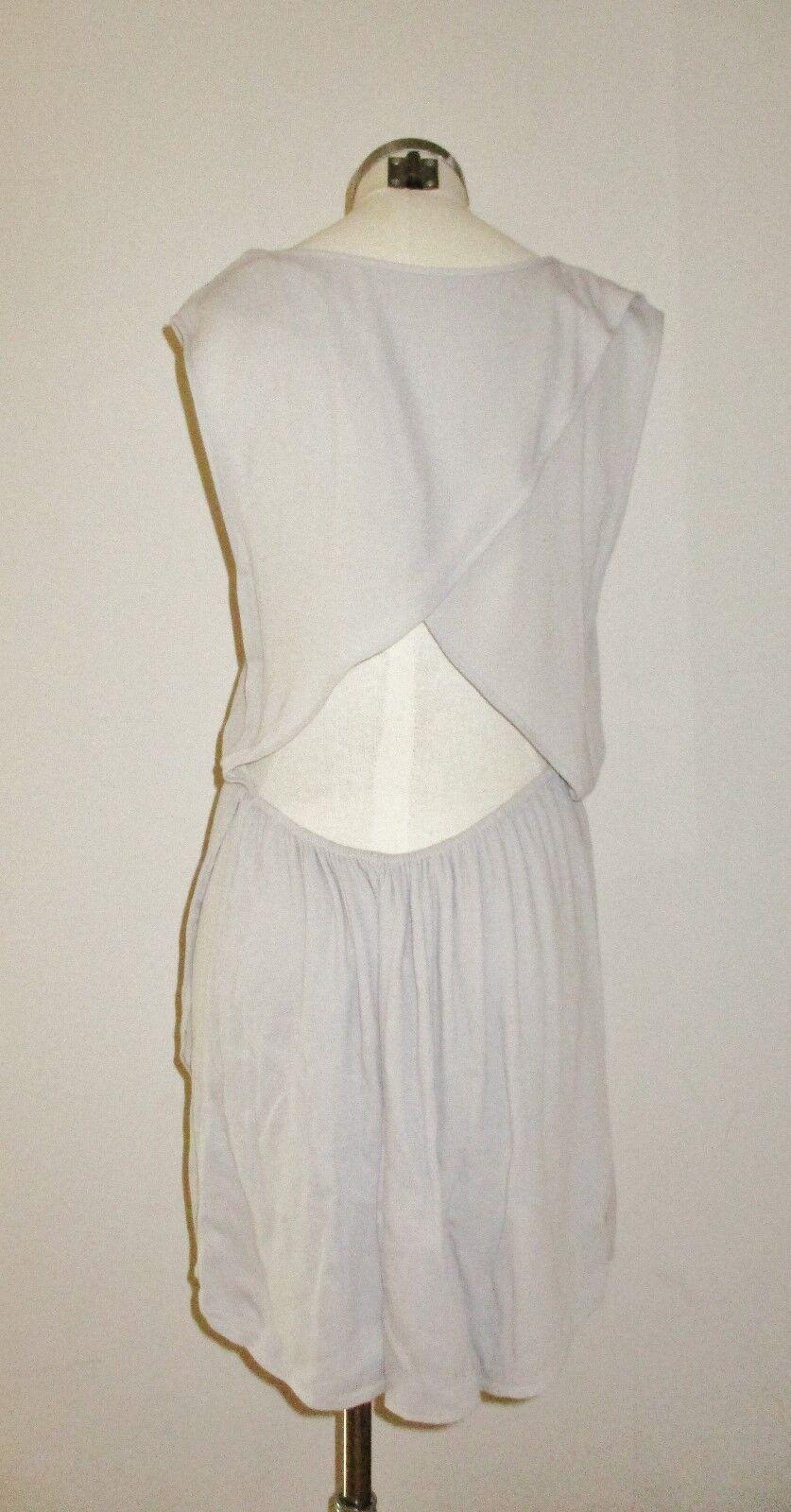 LACAUSA Sexy Back Dress X-Small DOVE grau NWT
