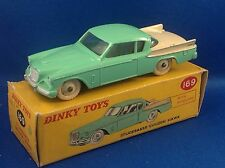 DINKY TOYS 169 STUDEBAKER GOLDEN HAWK luce verde, crema flash e Boot, vnmib
