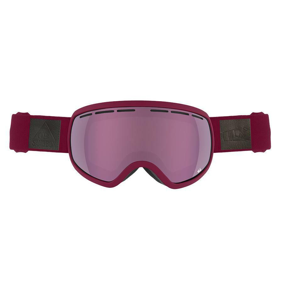 NEW Sandbox THE BOSS Snowboard Snowmobile  Goggle BURGUNDY PINK ION + BONUS LENS  high quality & fast shipping