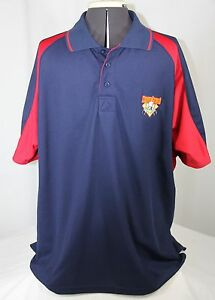 Cooperstown-Dreams-Park-Polo-Shirt-Authentic-Blue-Red-Short-Sleeve-Men-Large