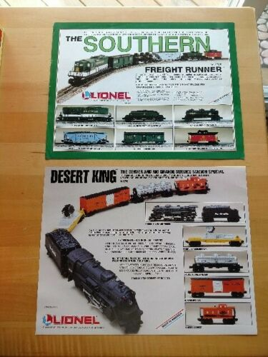 Lionel Desert King and The Southern Freight Runner Promotional Sheets