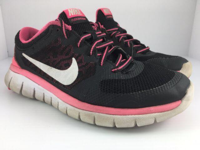Nike Flex 2015 Run Kids Youth Girls Womens Running Shoes 724992 001 Size 4
