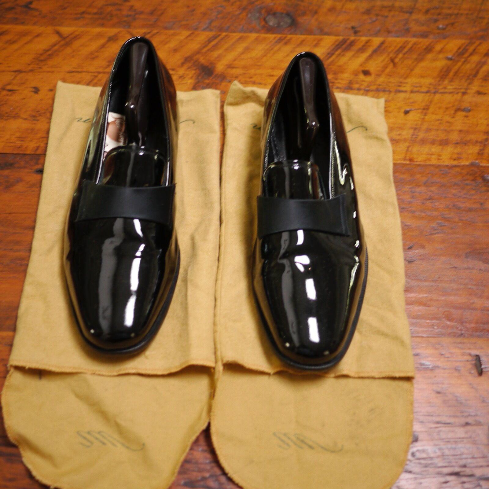 De Colección Nordstrom maestro Esmoquin Boda Vestido de Charol Negro Zapatos De 15M 49.5