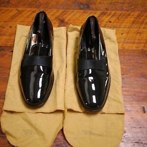 Vtg NORDSTROM Maestro Black Patent Leather Tuxedo Wedding Dress ...