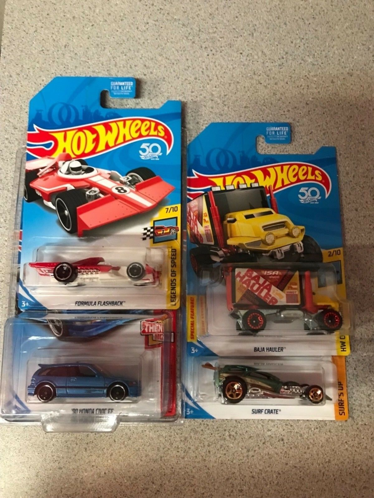 Hot wheels Kmart Day Set Of 4 bleu Honda Civic HTF