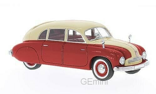 Tatra T600 Tatraplan rouge   crème 1948 1 43 NEO