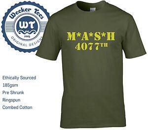 MASH-4077th-Tribute-T-Shirt-Military-Army-Green-New-Men-Size-S-XXL
