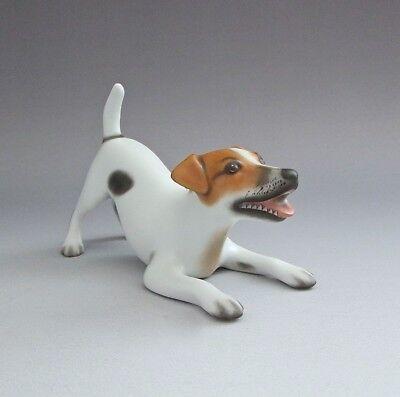 Herend Porcelain Jack Russell Terrier Dog Natural Color 15880