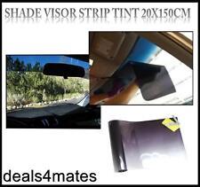 Black Car Sun Visor Windscreen Film Tint Strip Sunvisor Windshield SUV Camper