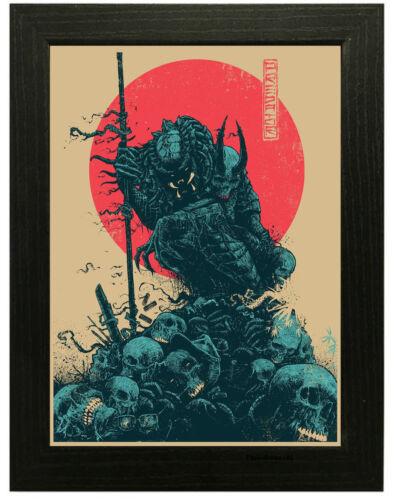 Framed Option A3 A4 Sizes Predator Movie Poster or Canvas Art Print