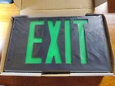 Tamco Led Exit Lighting Fixture Green Lettering Black Frame