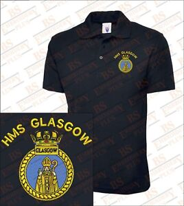 Glasgow Hms geborduurde poloshirts Glasgow Hms 1gwxprEg