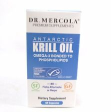 Dr. Mercola Krill Oil 1000mg - 60 Capsules - Antarctic Krill Oil - An Improved